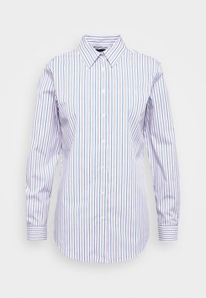 NON IRON SHIRT - Camisa - white/blue