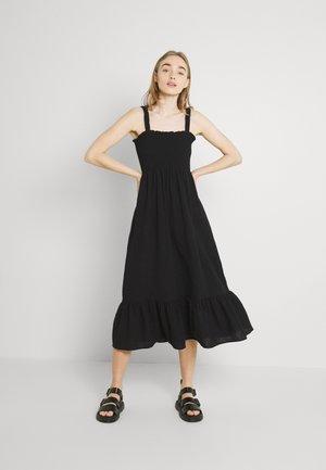 SOPHIA BUTTON FRONT DRESS - Day dress - black
