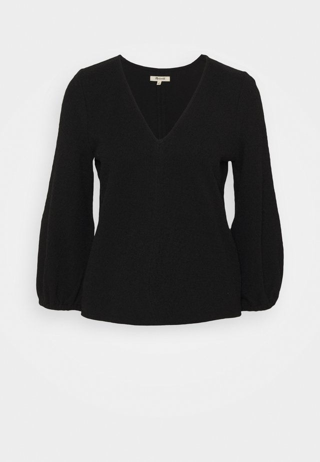 DAIKON TOP CROSSHATCH - Long sleeved top - true black