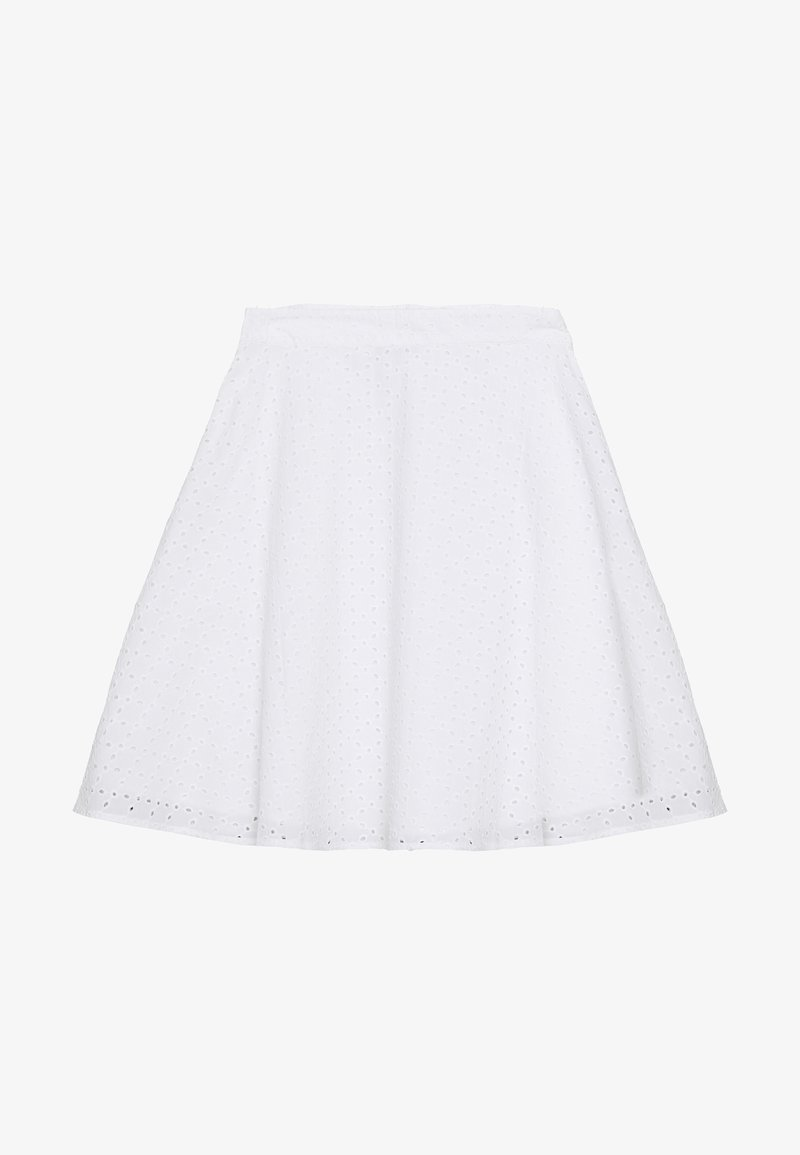 NA-KD - ANGLAISE ASHAPE SKIRT - A-snit nederdel/ A-formede nederdele - white