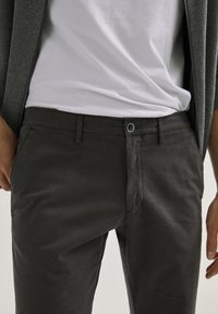 Massimo Dutti - SLIM FIT - Chinos - dark grey - 3