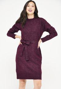 LolaLiza - WITH BELT - Cocktail dress / Party dress - bordeaux - 0