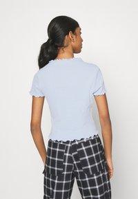 Monki - T-shirts print - blue light - 2