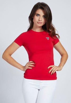 T-shirt z nadrukiem - rot