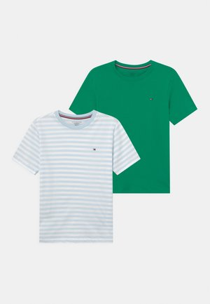 STRIPE 2 PACK - Undershirt - luminous blue/primary green