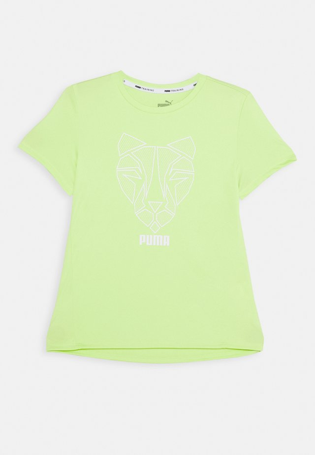 Print T-shirt - sharp green