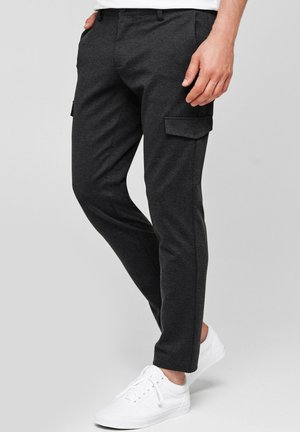 SUPER STRETCH ECKHART - Cargo trousers - raven