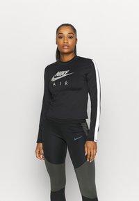 Nike Performance - AIR MID - Sports shirt - black/silver - 0