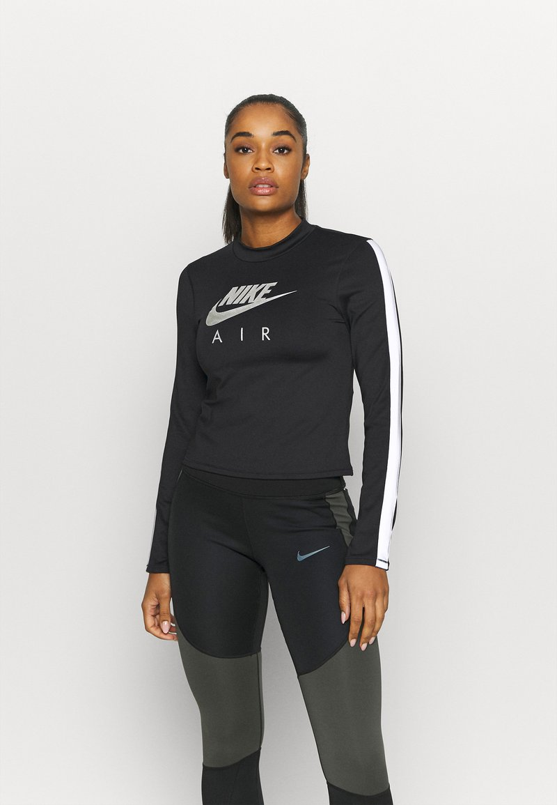 Nike Performance - AIR MID - Sports shirt - black/silver