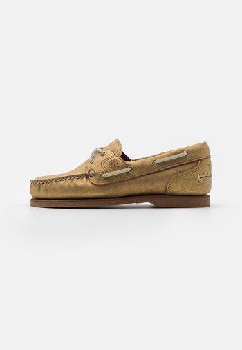CLASSIC 2 EYE - Boat shoes - gold metallic