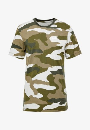 Camiseta estampada - light bone/medium olive/legion green