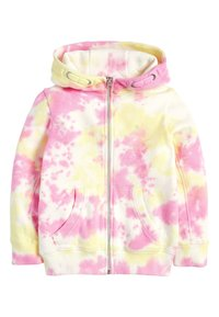 Next - FLURO - Zip-up hoodie - mottled pink - 0