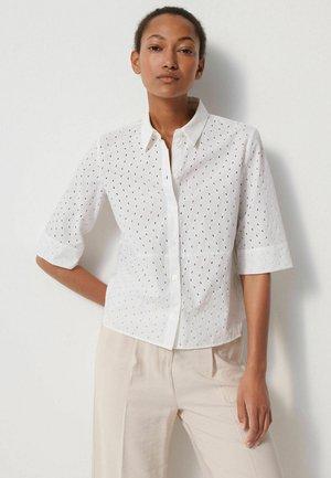 ZABELKE LACE - Button-down blouse - weiss