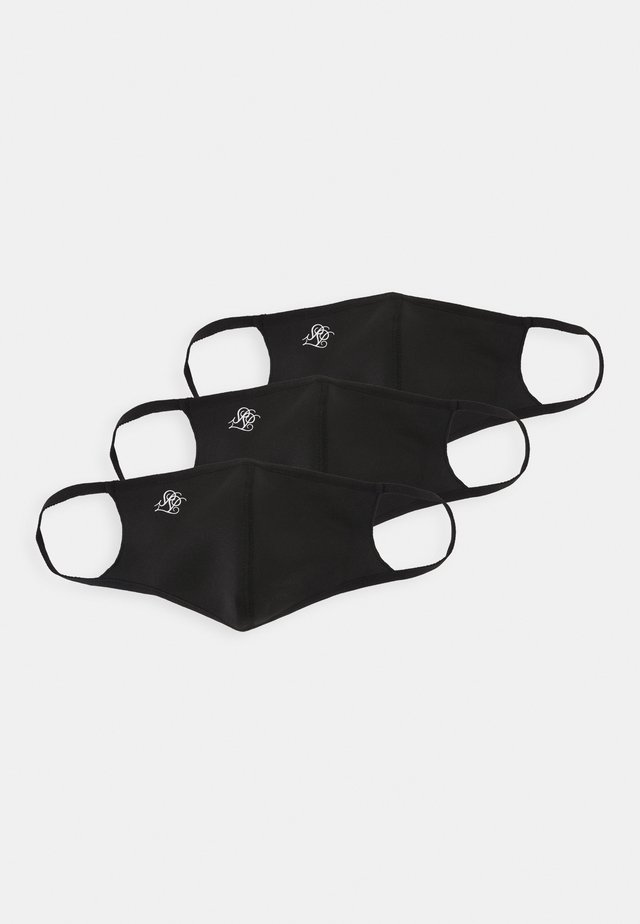 FACE COVERING UNISEX 3 PACK - Community mask - black
