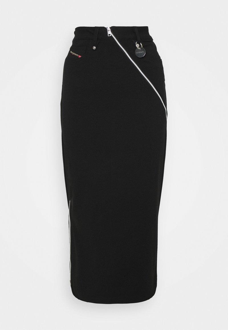 Diesel - O-CROSS - Pencil skirt - black