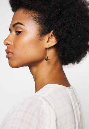 IN A FLUTTER BUTTERFLY DROP EARRINGS - Náušnice - clear/gold-coloured