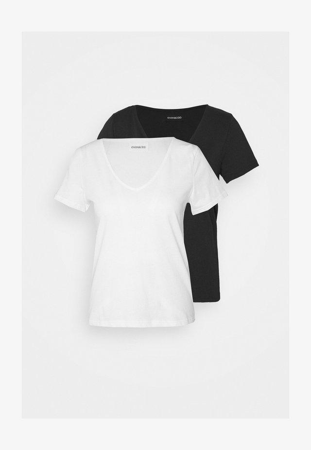 2 PACK - Jednoduché triko - black/white