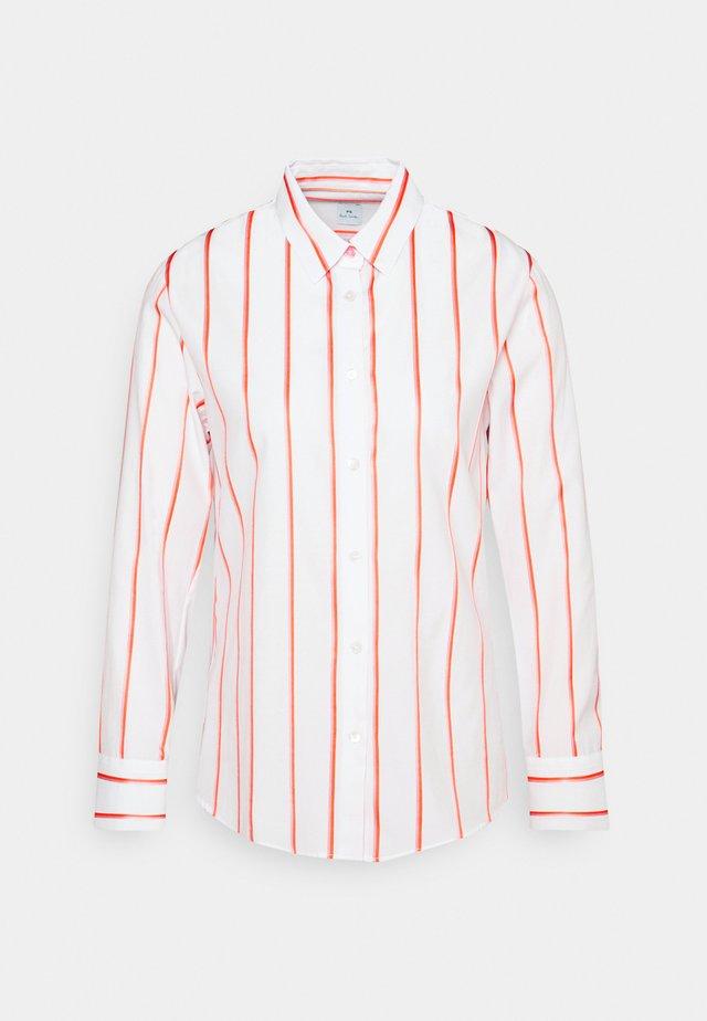 Button-down blouse - white/orange