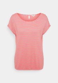 TOM TAILOR - STRUCTURE STRIPE - Print T-shirt - peach - 0