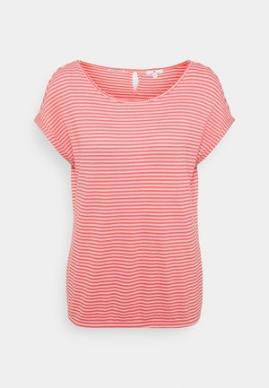 STRUCTURE STRIPE - Print T-shirt - peach