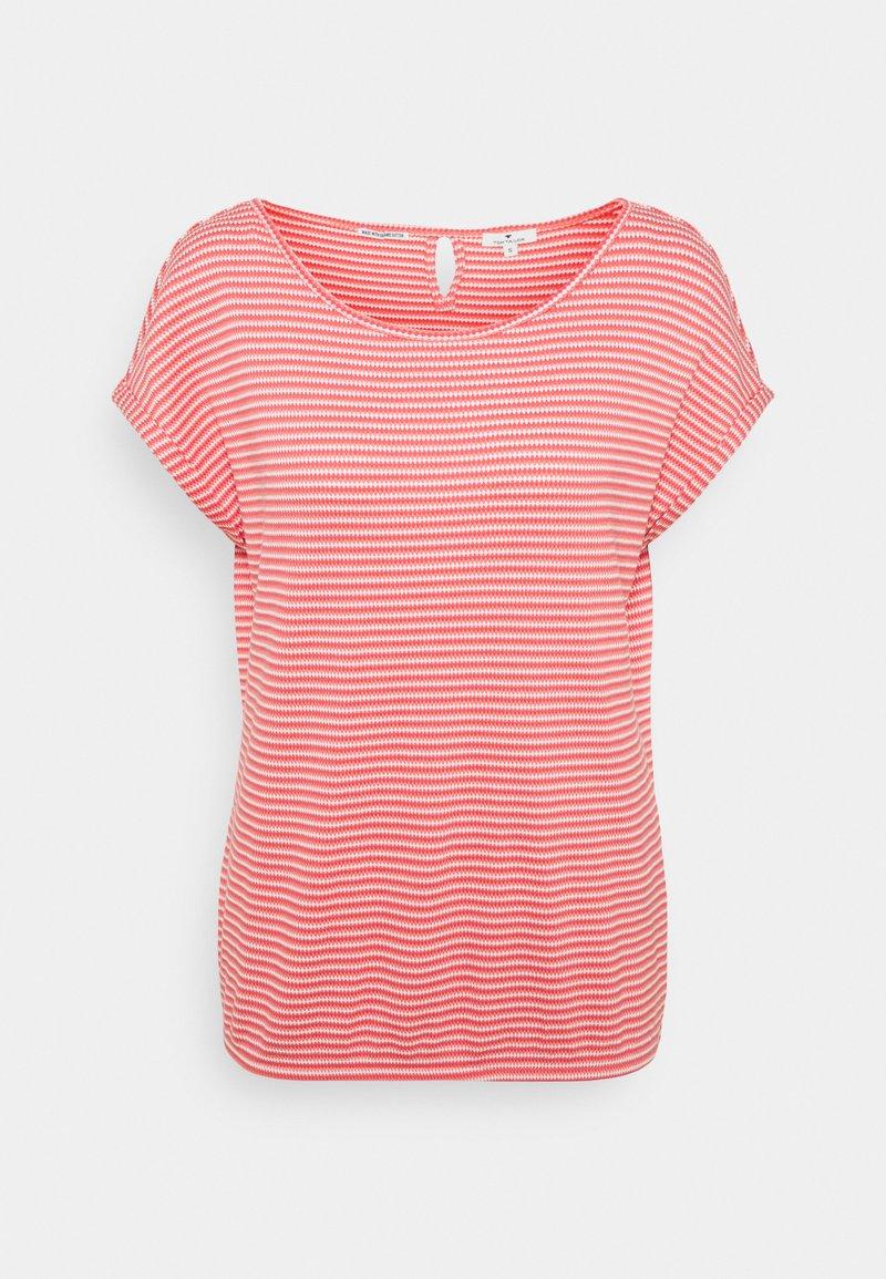 TOM TAILOR - STRUCTURE STRIPE - Print T-shirt - peach