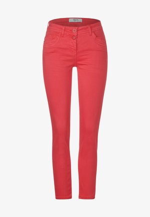 Slim fit jeans - light red