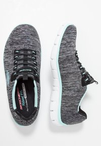 Skechers - EMPIRE SEE YA RELAXED FIT - Mocasines - black/turquoise - 3