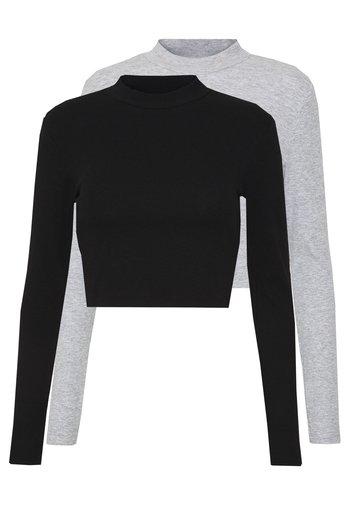 2 PACK - Topper langermet - light grey/black
