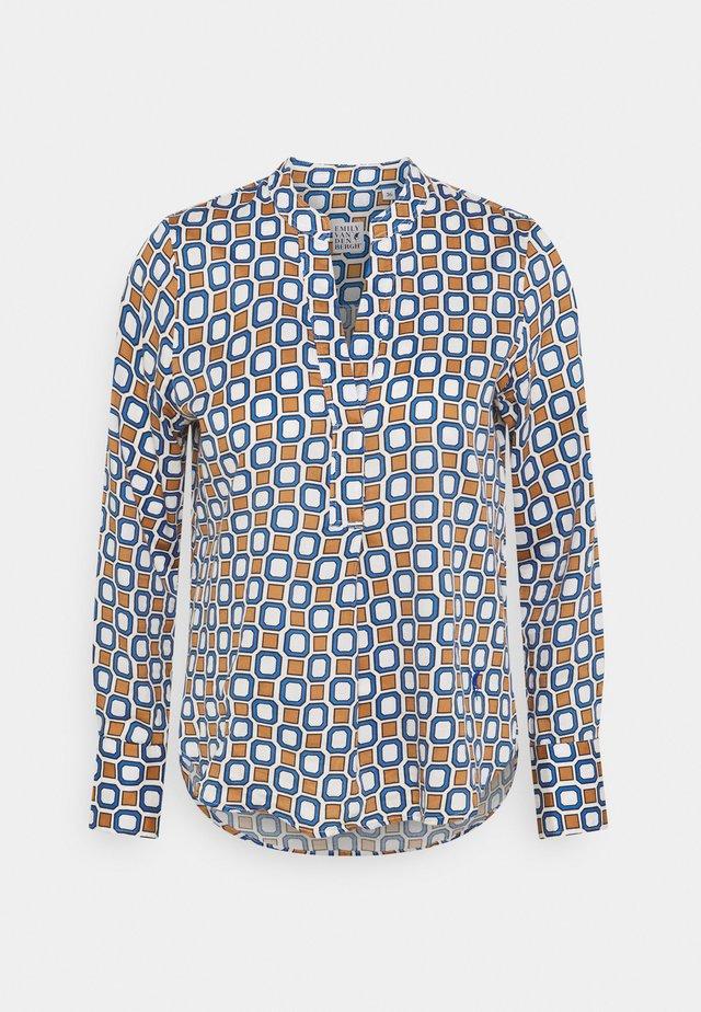 Pitkähihainen paita - brown/azur