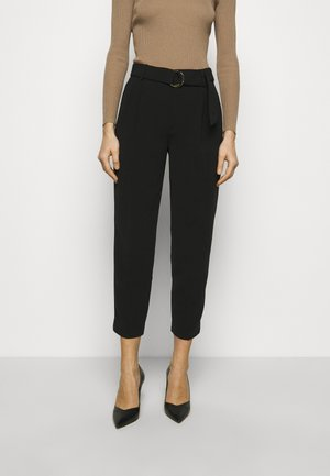 DRESS CREPE - Trousers - black