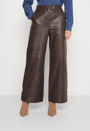 IRIT - Leather trousers - boudoir
