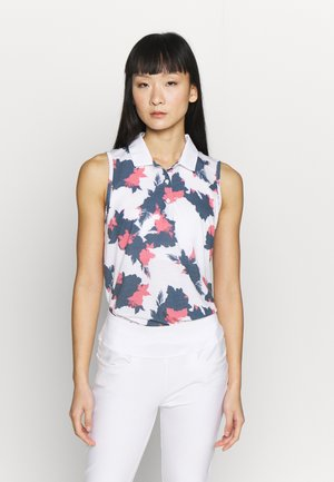 FLORAL SLEEVELESS POLO - Treningsskjorter - dark denim