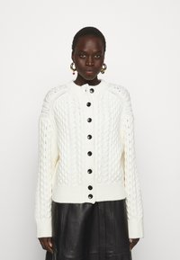 Proenza Schouler White Label - CABLE BUTTON BACK - Cardigan - ivory - 0