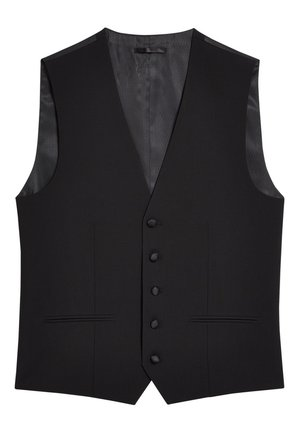 SIGNATURE PLAIN SUIT: WAISTCOAT - Vesta do obleku - black