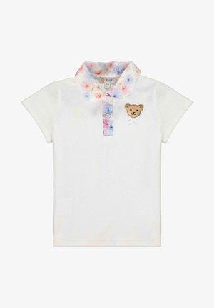 STEIFF COLLECTION POLOSHIRT MIT BLÜTENMOTIVE - Polo shirt - bright white