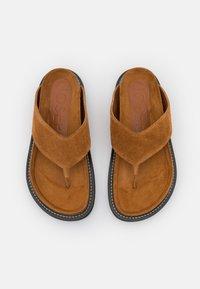 Joseph - FUSSBETT THONG  - T-bar sandals - rust/copper - 4