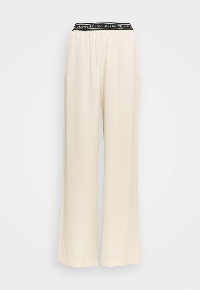 ELOISE WIDE PANTS - Tygbyxor - oyster grey