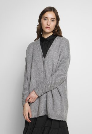 LAGINA - Cardigan - medium grey melange