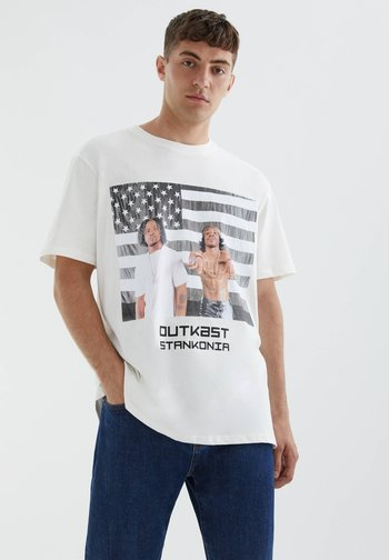 OUTKAST STANKONIA  - Print T-shirt - white