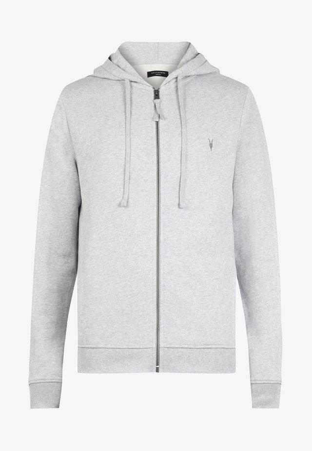 RAVEN - veste en sweat zippée - grey marl