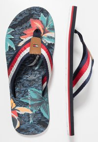 Tommy Hilfiger - TROPICAL PRINT BEACH  - T-bar sandals - red - 1