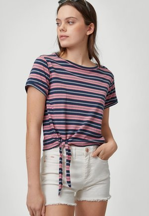 KNOTTED  - Print T-shirt - pink with blue