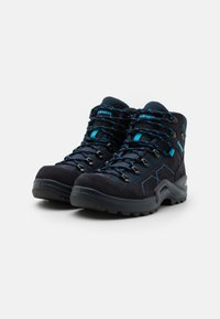 Lowa - KODY III GTX MID JUNIOR UNISEX - Hiking shoes - navy/türkis - 1