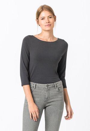 Long sleeved top - gris moyen