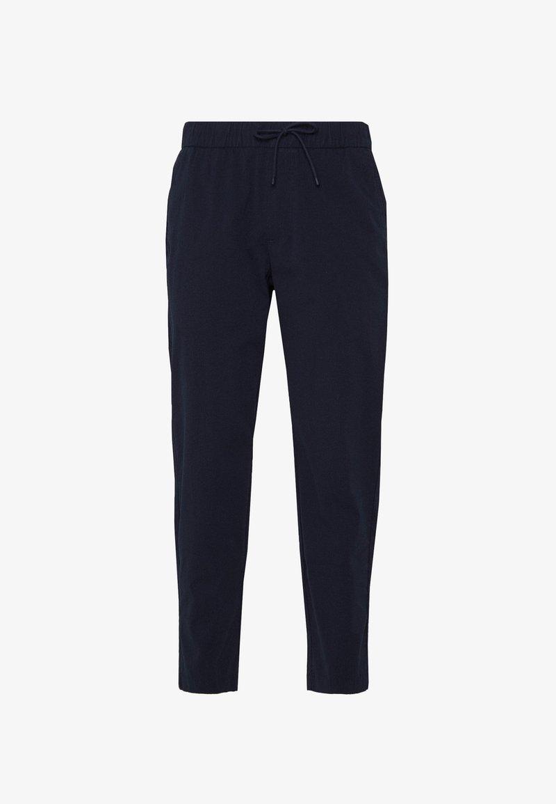 Abercrombie & Fitch - TONAL SEERSUCKER SNEAKER - Pantalones - navy