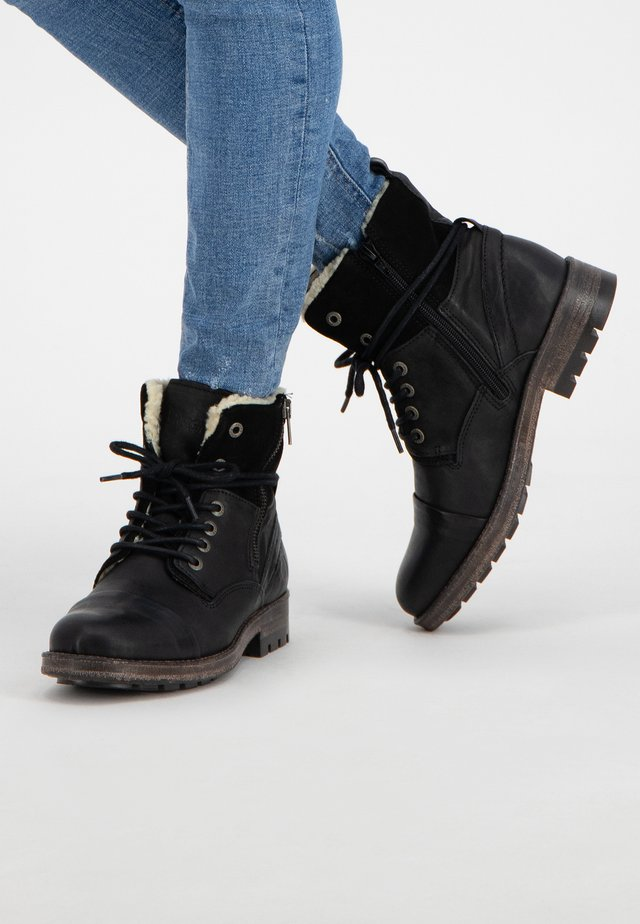 P.POST - Veterboots - black