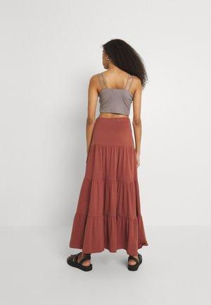 ONLMAY LIFE SKIRT - Maxi skirt - arabian spice