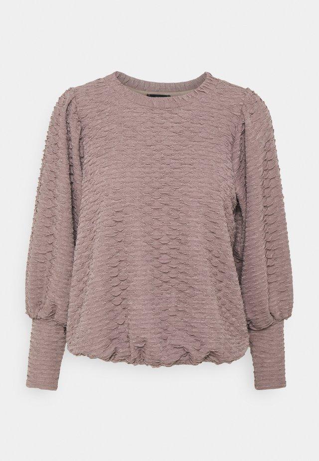 Långärmad tröja - mauve