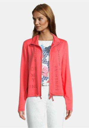 Zip-up hoodie - cayenne