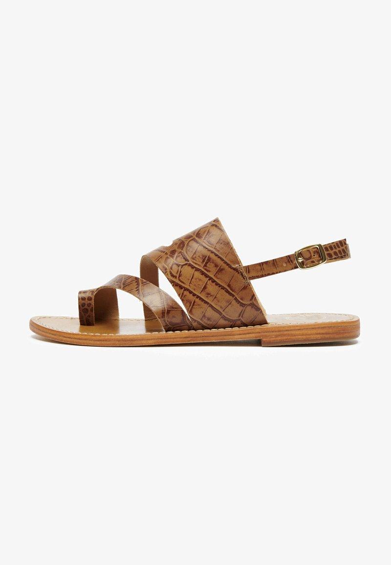 White Sun - VIOLA  - T-bar sandals - tan
